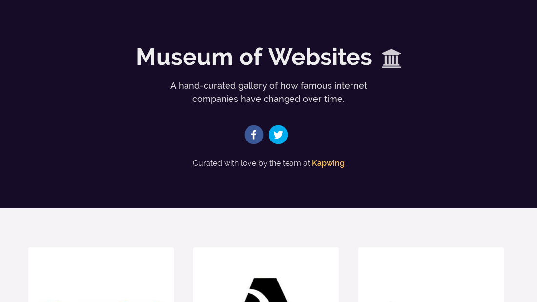 https://www.kapwing.com/museum-of-websites